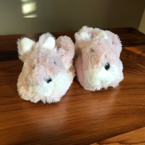 Nordstrom Baby faux fur bunny slippers 6-12 month